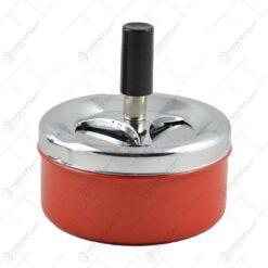 Scrumiera metalica mica cu sistem de curatare - Diferite culori - Mic