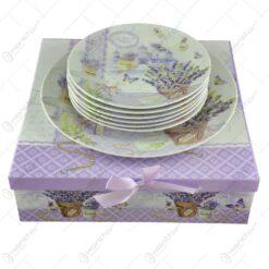 Set 7 farfurii realizate din ceramica - Lavanda Gift (Model 1)