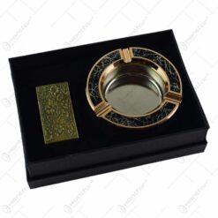 Set cadou 2 accesorii - Brichet si scrumiera (Model 1)