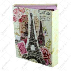 Agenda in cutie decorativa realizata din carton - Design Fluturi&Accesori Dama-4 modele