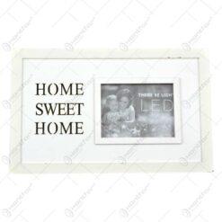 Rama foto din lemn cu led - Dim. poza 15x10 cm - Design Home Sweet Home