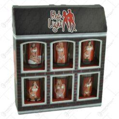 Set 6 pahare termice pentru shot-uri realizate din sticla - Design Erotic Women