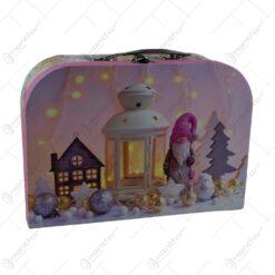 Set 3 cutii in forma de valiza pentru cadouri - Design Craciun - 2 modele