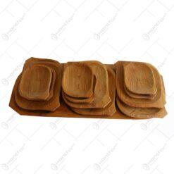 Set vesele din lemn de arin pentru servirea mesei (12 +1)