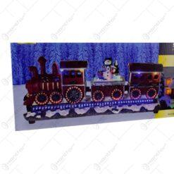 Decoratiune cu led pentru Craciun - Tren cu vagoane si figurina