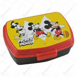 Cutie sandwich pentru copii realizata din plastic - 17 cm - Design Mickey Mouse