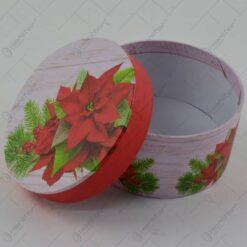 Cutie rotunda pentru cadouri - Design Craciun - Diverse modele