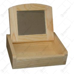 Cutie cu oglinda realizat din lemn - Hobby (Tip 2)