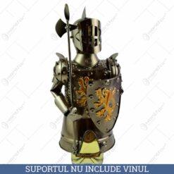 Suport pentru vin realizat din metal - Cavaler