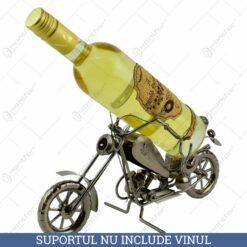 Suport pentru vin realizat din metal - Motocicleta