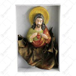 Icoana din ipsos si piele ecologica - Isus