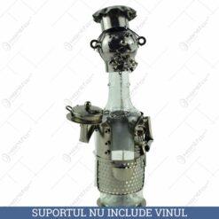 Suport pentru vin realizat din metal - Bucatar
