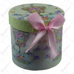 Cana realizata din ceramica in cutie cadou - Design cu coroana
