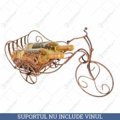 Suport pentru sticle de vin realizat din metal - Design Tricicleta (Tip 1)
