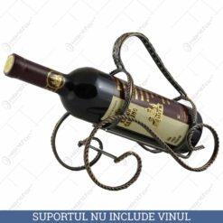 Suport metal pentru sticla de vin (Model 2)