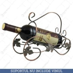 Suport metal pentru sticla de vin (Model 3)