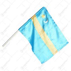 Steag secuiesc cu maner realizat din textil