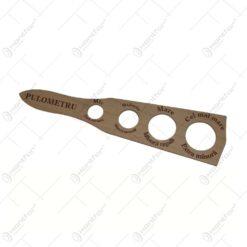 Penisometru din lemn cu gauri cu marimi diferite