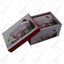 Set 3 cutii dreptunghiulare pentru cadouri - Design Craciun - Diverse modele (Model 1)