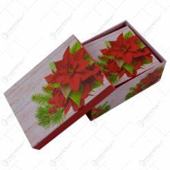 Set 3 cutii dreptunghiulare pentru cadouri - Design Craciun - Diverse modele (Model 2)