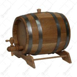 Butoi cu robinet pentru bauturi alcoolice realizat din stejar (4-5l)