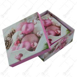 Set 3 cutii patrate pentru cadouri - Design Craciun - Diverse modele (Model 2)