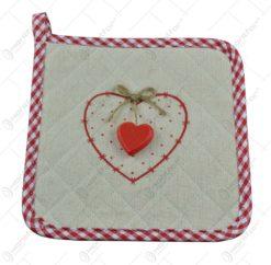 Servet termoizolant de bucatarie realizat din textil - Cu inimioara din lemn