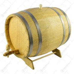 Butoi cu robinet pentru bauturi alcoolice realizat din stejar (15l)