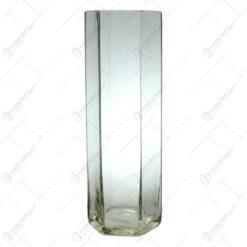 Vaza hexagon din sticla de dimensiune 26cm