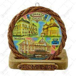 Aplica ipsos rotund relief multicolor - Romania