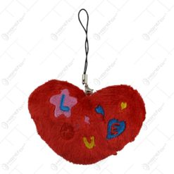Breloc realizat din material plusat - Design Love (Tip 1)