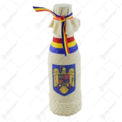 Sticla imbracata in sfoara - Design Romania - 2 modele