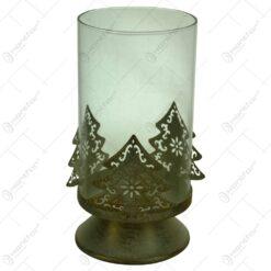 Suport pentru lumanare cu candela - Design cu brad (Model 1)