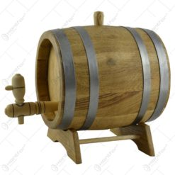 Butoi cu  robinet pentru bauturi alcoolice realizat din stejar (3l)