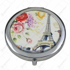 Oglinda de poseta realizata din metal si material plastic - Design Paris/London/Pissa - Diferite modele