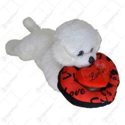 """Ursulet realizat din material plusat - Design Valentine's """"I'm yours!"""""""