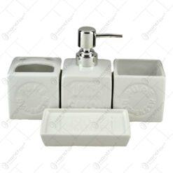 Set pentru baie realizat din ceramica - Diferite culori