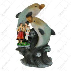 Decoratiune realizata din ceramica - Design cu delfini - 2 modele