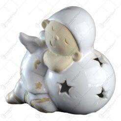 Candela realizata din ceramica - Design Inger cu glob (Model1)