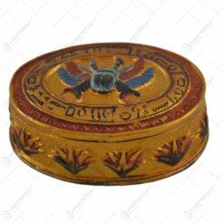 Bonboniera realizata din rasina - Design Egiptean - 8 cm