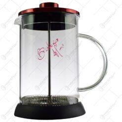 Infuzor ceai/cafea realizat din sticla si inox (Model 2)
