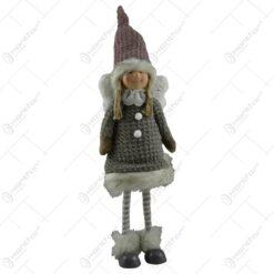 Figurina realizata din material textil si ceramica in forma de fetita (Model 1)