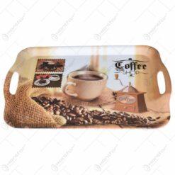 Tava cu manere realizata din material plastic - Design Coffee Shop