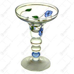 Sfecnic pentru lumanare realizat din sticla - Design Flori
