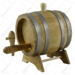 Butoi cu robinet pentru bauturi alcoolice realizat din stejar (1l)
