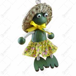 Figurina bungee jumping - Broasca fata cu palarie