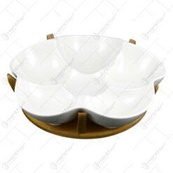 Tava realizata din ceramica cu suport din bambus - Design Contemporan (Tip 1)