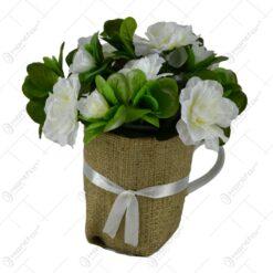 Cana decorata cu panza si plante artificiale - Diverse modele