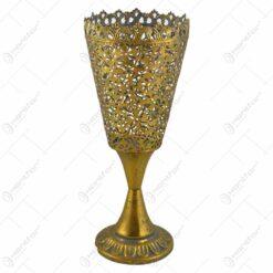 Pahar decorativ cu talpa realizata din metal - Design Vintage