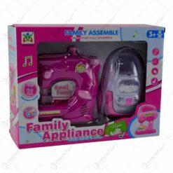 Set jucarie pentru fetite - Masina de cusut si aspirator